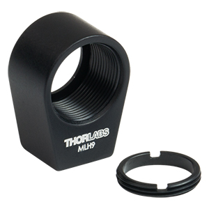 MLH9 - Mini-Series Lens Mount with Retaining Ring for Ø9 mm Optics, 4-40 Tap