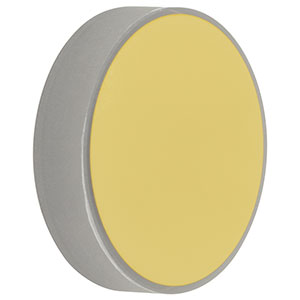 CM254-500-M01 - Ø1in Gold-Coated Concave Mirror, f = 500.0 mm