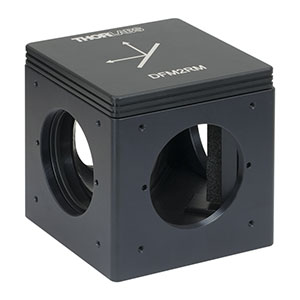 DFM2RM - Kinematic Beam Turning 60 mm Cage Cube for Right-Angle Prism Mirror, Right Turning, 1/4in-20 Tapped Holes