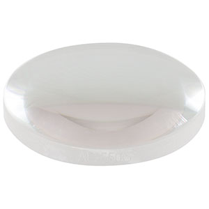 AL2550G - Ø25.0 mm Diffraction-Limited Aspheric Lens, f = 50.0 mm, NA = 0.20, Uncoated