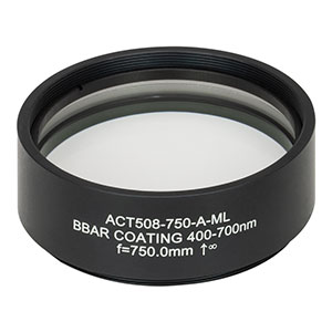 ACT508-750-A-ML - f = 750 mm, Ø2in Achromatic Doublet, SM2-Threaded Mount, ARC: 400 - 700 nm