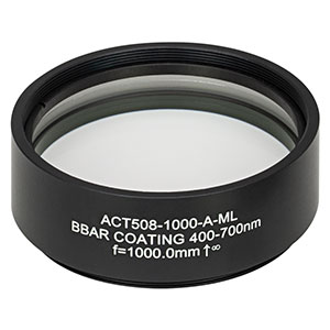 ACT508-1000-A-ML - f=1000 mm, Ø2in Achromatic Doublet, SM2-Threaded Mount, ARC: 400-700 nm