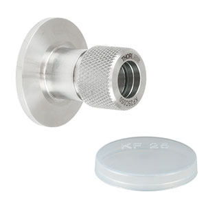 KF25C050 - KF25 Flange to Compression Fitting Adapter for Pipes with OD = 0.500in