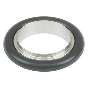 KF25CR-F - Centering O-Ring Carrier for KF25 Flanges with Fluorocarbon O-Ring