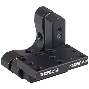 KM05PM/M - Kinematic Prism Mount, 17.8 mm Deep, M3 and M4 Taps