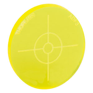 ADF3 - Fluorescent Alignment Disk, Yellow