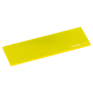 FSK3 - Fluorescent Microscope Slide, Yellow, 1.7 mm Thick