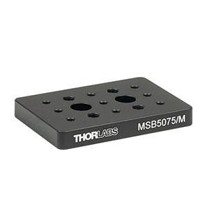 MSB5075/M - 50 mm x 75 mm x 9.5 mm Mini-Series Aluminum Breadboard, M4 and M6 High-Density Taps