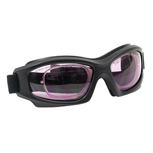 LG5C - Laser Safety Goggles, Pink Lenses, 61% Visible Light Transmission, Modern Goggle Style