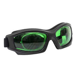 LG8C - Laser Safety Goggles, Emerald Lenses, 35% Visible Light Transmission, Modern Goggle Style