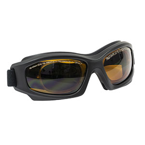 LG9C - Laser Safety Goggles, Amber Lenses, 25% Visible Light Transmission, Modern Goggle Style
