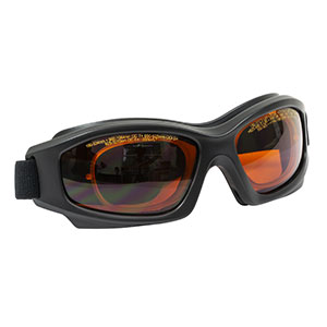 LG10C - Laser Safety Goggles, Amber Lenses, 35% Visible Light Transmission, Modern Goggle Style