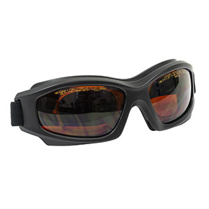 LG12C - Laser Safety Goggles, Amber Lenses, 11% Visible Light Transmission, Modern Goggle Style