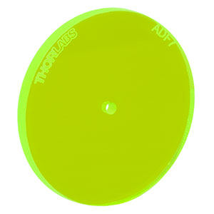 ADF7 - Fluorescent Alignment Disk, Ø1.5 mm Hole, Green