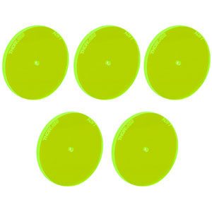 ADF7-P5 - Fluorescent Alignment Disk, Ø1.5 mm Hole, Green, 5 Pack