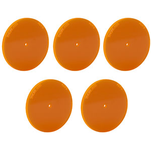 ADF9-P5 - Fluorescent Alignment Disk, Ø1.5 mm Hole, Orange, 5 Pack