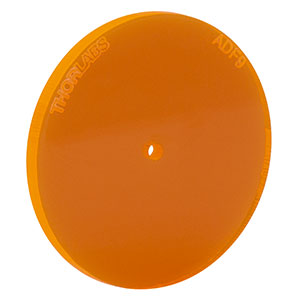 ADF9 - Fluorescent Alignment Disk, Ø1.5 mm Hole, Orange