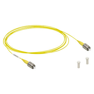 P1-630Y-FC-2 - Single Mode Patch Cable, 633 - 780 nm, FC/PC, Ø900 µm Jacket, 2 m Long