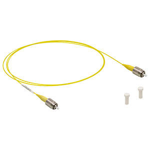 P1-SMF28Y-FC-1 - Single Mode Patch Cable, 1260-1625 nm, FC/PC, Ø900 µm Jacket, 1 m Long