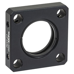 CP33/M - SM1-Threaded 30 mm Cage Plate, 0.35in Thick, 2 Retaining Rings, M4 Tap