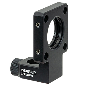 CPTS10/M - Cage Plate to Ø1/2in Post Adapter, 10 mm Post Offset, Metric Thumbscrew