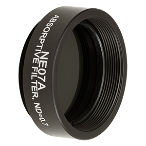 NE07A - Ø25 mm Absorptive ND Filter, SM1-Threaded Mount, Optical Density: 0.7