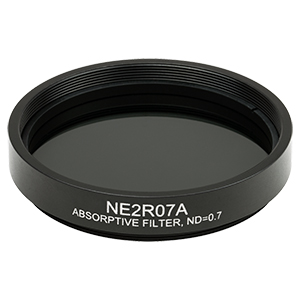 NE2R07A - Ø2in Absorptive ND Filter, SM2-Threaded Mount, Optical Density: 0.7