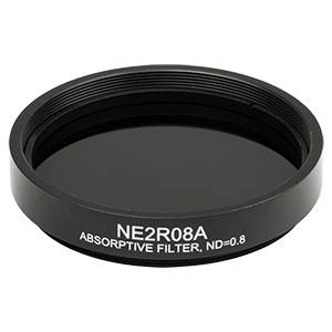 NE2R08A - Ø2in Absorptive ND Filter, SM2-Threaded Mount, Optical Density: 0.8