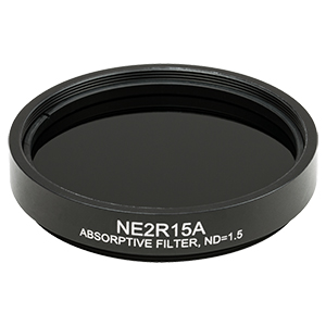 NE2R15A - Ø2in Absorptive ND Filter, SM2-Threaded Mount, Optical Density: 1.5