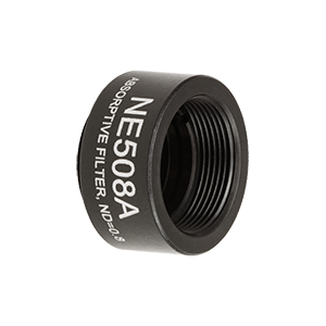 NE508A - Ø1/2in Absorptive ND Filter, SM05-Threaded Mount, Optical Density: 0.8