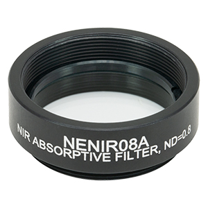 NENIR08A - Ø25 mm NIR Absorptive ND Filter, SM1-Threaded Mount, OD: 0.8