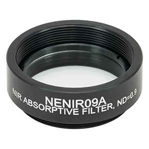 NENIR09A - Ø25 mm NIR Absorptive ND Filter, SM1-Threaded Mount, OD: 0.9