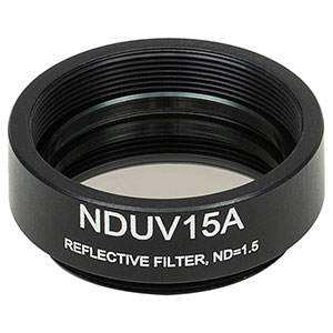 NDUV15A - SM1-Threaded Mount, Ø25 mm UVFS Reflective ND Filter, OD: 1.5