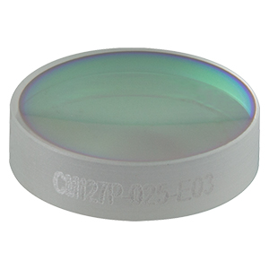 CM127P-025-E03 - Ø1/2in Dielectric-Coated Concave Mirror, 750 - 1100 nm, f = 25 mm, Back Side Polished