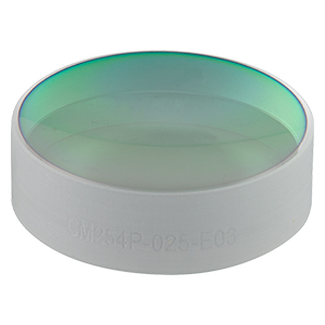 CM254P-025-E03 - Ø1in Dielectric-Coated Concave Mirror, 750 - 1100 nm, f = 25 mm, Back Side Polished