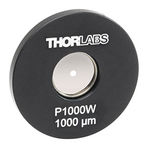 P1000W - Ø1in Mounted Pinhole, 1000 ± 10 µm Pinhole Diameter, Tungsten