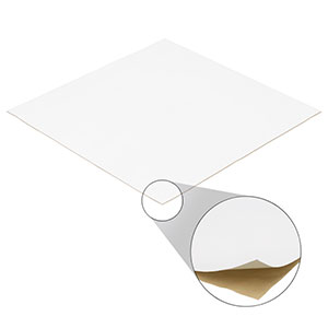 PMR10P1 - PTFE Diffuse Reflector Sheet with Adhesive Backing, 33 cm x 33 cm, 0.75 mm Thick