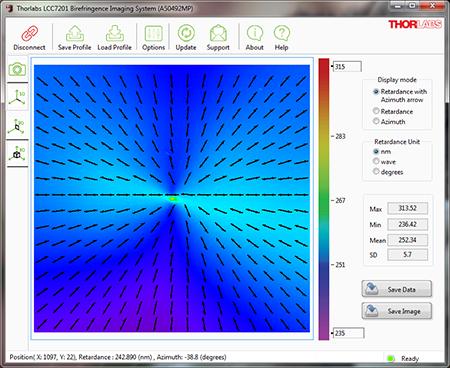 LCP Vortex Retarder Plate in 2D View