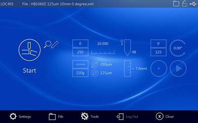 LDC401 Home Screen