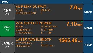 Optical Transmitter Main Menu