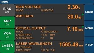 Linear Reference Transmitter Main Menu