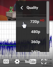 720p Resolution Button for Video Player