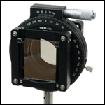 App shot showing two large polarizers in a rotating mount.