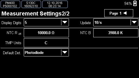 Temperature Measurement Settings