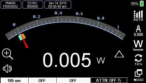 Power Meter Analog Needle