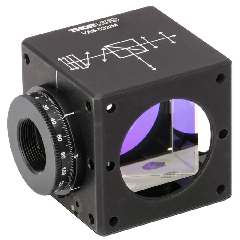 Thorlabs - VA5-532/M 30 mm Cage Cube-Mounted Variable Beamsplitter ...